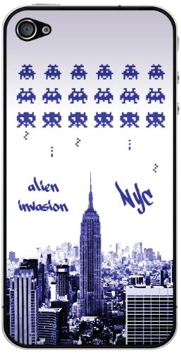 Cellet Alien Invasion in NYC Skin für iPhone 4/4S, - Bildschirm Für Sprint Iphone 4