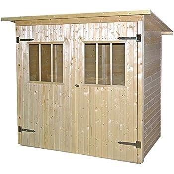 JODA Gerätehaus natur Nadelholz 192 x 118 cm Gartenhaus Geräteschuppen Schuppen