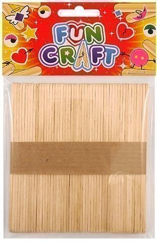Uni 50 x Lollipop Glace À L'eau Pour Enfants Art Artisanat Bâtons En Bois