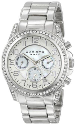 Akribos XXIV da donna Ultimate Swiss-Orologio da donna al quarzo con braccialetto in acciaio INOX