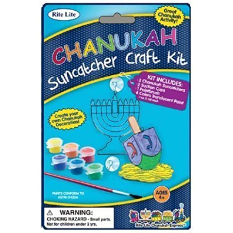 Chanukah Suncatcher Kit, Assorted Designs - Great Hanukkah Activity - 1 Pkg. by Rite Lite