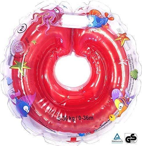 Salvagente Gonfiabile per Bambini Neonati 6-36 Mesi (rosso)
