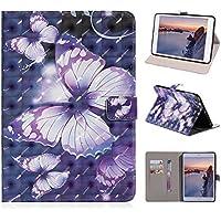 Leder Hülle für Apple iPad Mini, Asnlove Premium PU Leder Schutzhülle Tasche Stand Cover Case mit Standfunktion und Auto Schlaf/Wach Funktion für Apple iPad Mini 1/2/3 7,9 Zoll Tablet mit 3D Muster