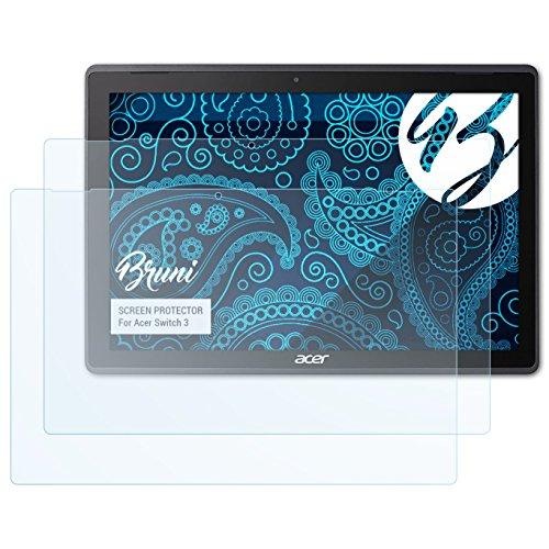 Bruni Schutzfolie für Acer Switch 3 Folie, glasklare Bildschirmschutzfolie (2X)