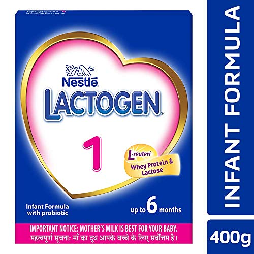 Nestle LACTOGEN 1 Infant Formula Powder - Upto 6 months, Stage 1, 400g BIB Pack