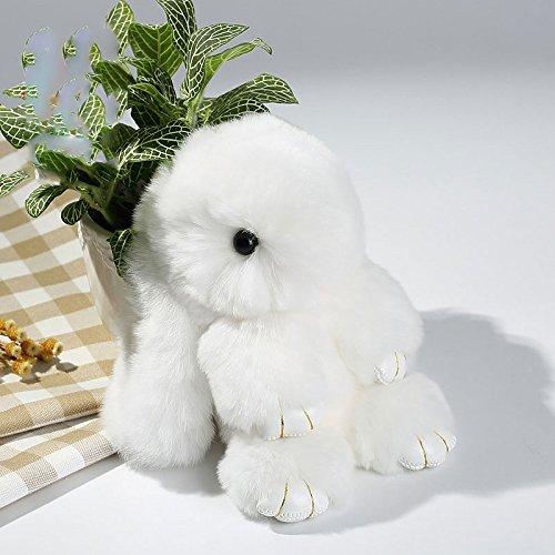 Cewaal Cute Bunny Weichem Kaninchenfell Telefon Anhänger Handtasche Mädchen Schlüsselanhänger Ring für Handtasche und Geldbörsen Auto Anhänger