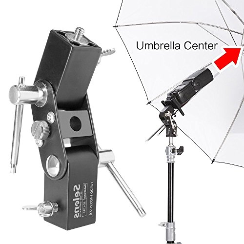 Selens Flash Soporte de Zapata Paraguas Soporte de Luz Aluminio Flash Shoe Umbrella Light Stand Bracket Holder para Nikon Canon Yongnuo (SE-L012)