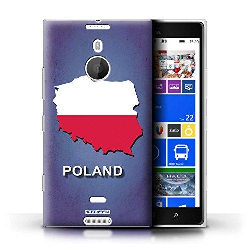 Kobalt® Imprimé Etui / Coque pour Nokia Lumia 1520 / Australie conception / Série Drapeau Pays Pologne/Polonais