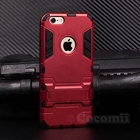 iPhone 6S Plus / 6 Plus Coque, Cocomii Iron Man Armor NEW [Heavy Duty] Premium Tactical Grip Kickstand Shockproof Hard Bumper Shell [Military Defender] Full Body Dual Layer Rugged Cover Case Étui Housse Apple