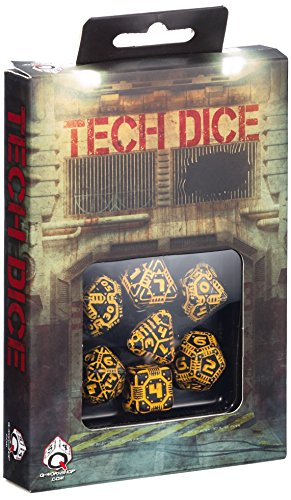 Tech Dice Black-Orange Dice Set