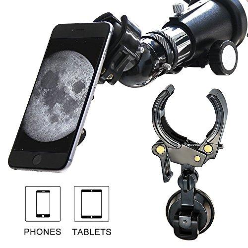 LILBEES Handy-und Tablet-Adapter-Halterung, Universal-und Protectable-Kompatibel mit Sternenteleskop...