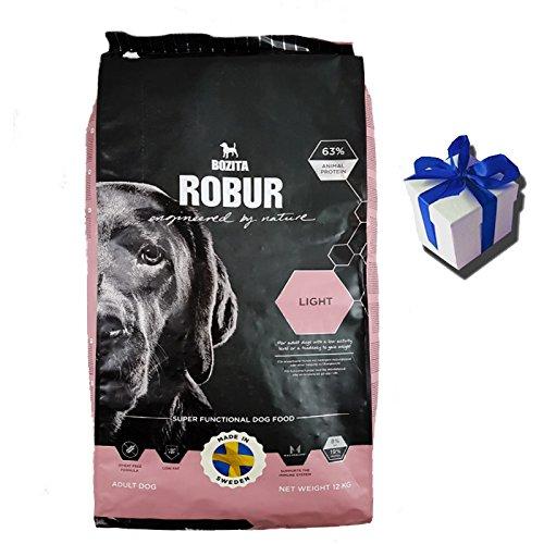 fettarmes hundefutter Bozita 12 kg Robur Light Hundefutter Trockenfutter weizenfrei fettarm + Geschenk