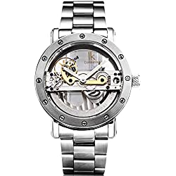 Alienwork IK Automatic Watch Self-winding Skeleton Mechanical Water Resistant 5ATM Stainless Steel silver silver 98393G-MS-M
