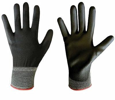 12 Paar Goodyear Handschuhe Pu-beschichtet Handrcken Frei Nahtloses Nylongewebe Sehr Elastisch Strickbund von Goodyear
