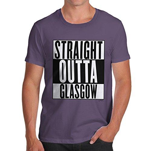 Herren Straight Outta Glasgow T-Shirt Pflaume
