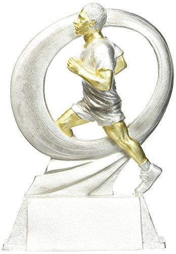 DEPICE Pokal Handball, silber/Gold, 17 cm