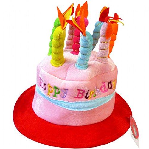Chapeau pour anniversaire avec bougies 'Happy Birthday' bleu 5026619383568