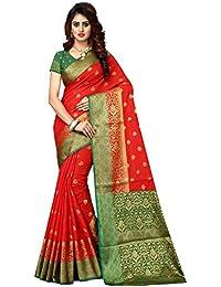 Greenvilla Designs Red And Green Banarasi Silk Wedding Saree