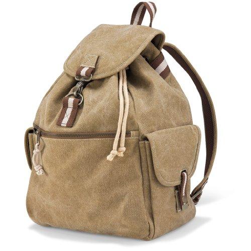 Desert Canvas Backpack Rucksack, Farbe:Sahara Sahara Rucksack