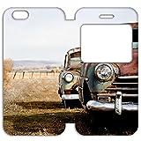 B2Ctelecom Cas avec Fenêtre pour iPhone 6/6S Motif Voiture Ancienne