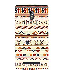 PrintVisa Circle Geometrical Pattern 3D Hard Polycarbonate Designer Back Case Cover for Oppo Find 7 :: Oppo Find 7 QHD :: Oppo Find 7a :: Oppo Find 7 FullHD :: Oppo Find 7 FHD