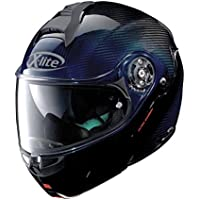 Casque modulable X-lite x-1004 Ultra Carbon Nuance N-COM Casque – 9 Carbon Nuance Blue Taille XL
