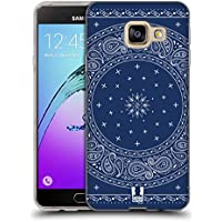 Head Case Designs Autour Bleu Bandana Cachemire Classique Étui Coque en Gel molle pour Samsung Galaxy A3 (2016)