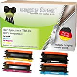 4x Toner Made in Germany ersetzt Brother TN135 Black, Cyan, Magenta, Yellow HL-4040CN HL-4050CDN HL-4050CDNLT HL-4070CDW DCP-9040CN DCP-9042CDN DCP-9045CDN MFC-9440CN MFC-9450CDN MFC-9840CDW