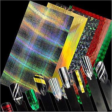 Colorful Design glitter Laser line Folien Aufkleber Nagel Kunst Dekorationen