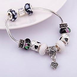 Acheter Damelie Pandora style plaqué argent bracelet à... en ligne