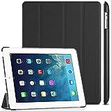 EasyAcc Etui Housse pour iPad 2 3 4, Ultra Slim Etui, Fonction de Support et Sommeil/Reveil Automatique (pour iPad Pro 11 2018, Noir, PU Cuir)