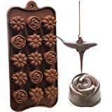 #8: Hua You Silicone Flower Shape Chocolate Mould (Brown, 10-inch)