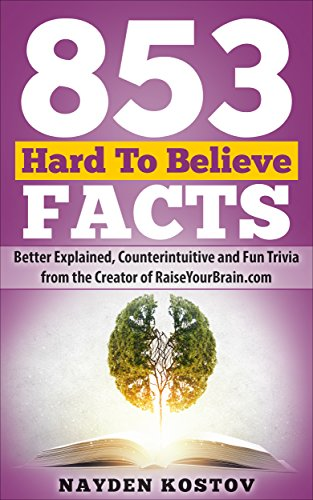 853 Hard To Believe Facts: Better Explained, Counterintuitive and Fun Trivia from the Creator of RaiseYourBrain.com (Paramount Trivia and Quizzes Book 3) (English Edition)