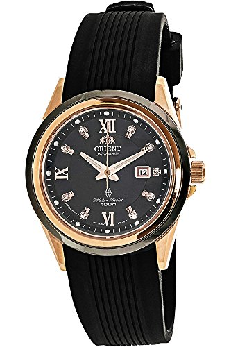 Orient Women's Analogue Automatic Watch with Rubber Strap FNR1V001B0
