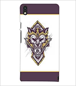 PrintDhaba Logo Wolf D-1437 Back Case Cover for HUAWEI ASCEND P6 (Multi-Coloured)