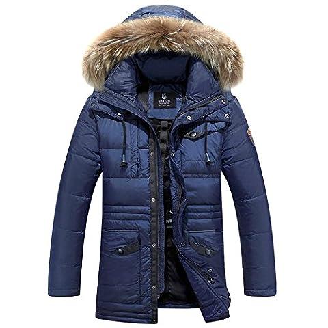 Doudoune Pour Homme - Glestore Hommes Manteau Epais Padded Parka Outwear