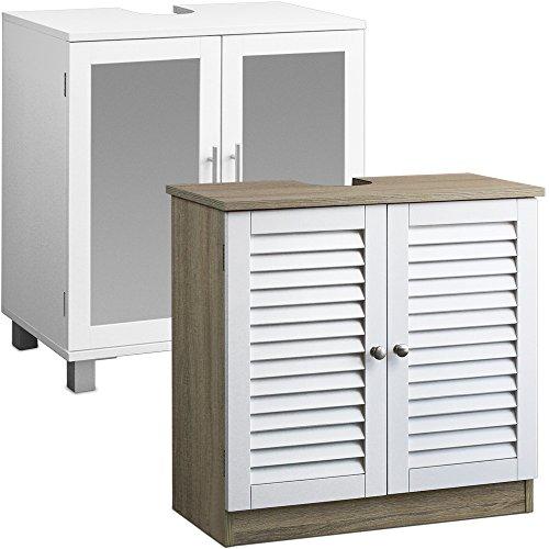 Waschbeckenunterschrank Badschrank Badzimmermöbel Unterschrank Badezimmermöbel für alle gängigen Waschbecken weiß braun