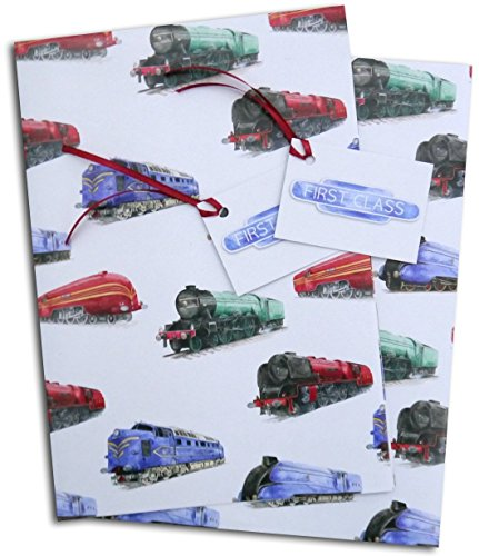 train-steam-engine-locomotive-gift-wrapping-paper-with-1st-class-gift-tags