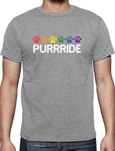 Purride - Pride Design für Katzen Fans T-Shirt Grau