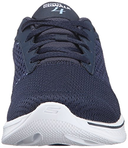 Skechers Go Walk 4-Exceed, Baskets Basses Femme Bleu (Nvw)