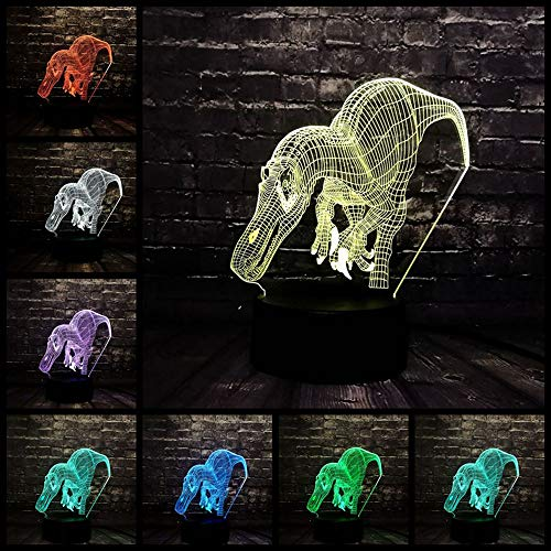 USB Ladung 3D Dinosaurier Velociraptor Jurassic Park Batterieleistung LED Nachttisch Dekor Stimmung Nachtlicht Weihnachtsgeschenk (Spiele Halloween Dekor Raum)