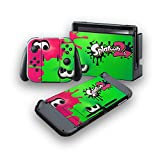 Splatoon 2 -Protective Vinyl Skin Decal Cover for Nintendo Switch Console & 2 Controllers