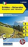 Italien Outdoorkarte 04 Gröden, Seiseralm-Schlern 1 : 35.000: Rosengarten,Sella, Marmolada. Wanderwege, Radwanderwege, Nordic Walking, Skilanglauf, Skitouren (Kümmerly+Frey Outdoorkarten Italien) -