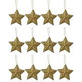 12 x Glitter Oro 3D A Forma Di Stelle Da parete Albero Di Natale Ornamento Finestra decorazioni natalizie Accessori