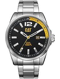 CAT 3HD Men's Watch Steel Case Metal Band Black & Yellow Dial WT14111137