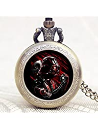 ShopyStore 444 Popular Nightmare Before Christmas Vintage Quartz Pocket Watch Necklace Pendant For