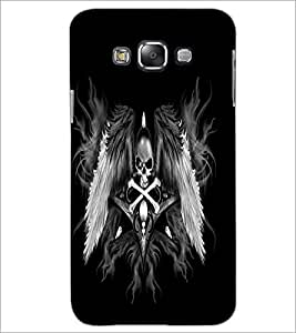 PrintDhaba Skull and Bone D-2197 Back Case Cover for SAMSUNG GALAXY A7 (Multi-Coloured)