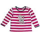 SALT AND PEPPER Baby-Mädchen Langarmshirt B Longsleeve Happy Stripe OCS, Pink (Magenta 853), 68