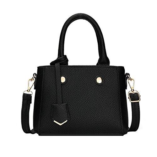 DISSA S808 neuer Stil PU Leder Deman 2018 Mode Schultertaschen handtaschen Henkeltaschen,230×95×165(mm) Schwarz