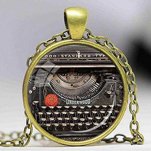 Neue Vintage Typewriter Pendant Writer Geschenk Für Schriftsteller Schreibmaschine Schmuck Schriftsteller Halskette, Vintage Tastatur Schmuck -